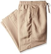 Cubavera Men's Big and Tall Drawstring Pant with Back Elastic Waistband