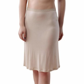 Idealady Women's Knitted Silk Half Slips Mini Short Underskirt Petticoat (XXL