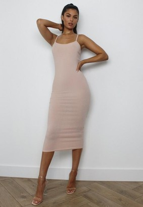 Missguided Rib Midi Cami Dress