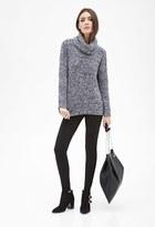 Forever 21 Marled Knit Turtleneck Sweater