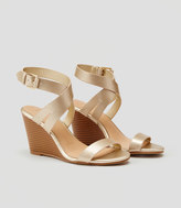 LOFT Crossover Wedge Sandals