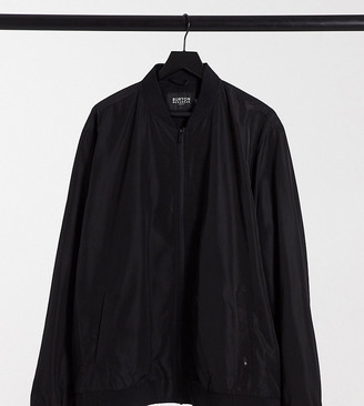 Burton Menswear Big & Tall bomber jacket in black