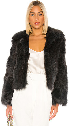 Adrienne Landau Fox Fur Jacket