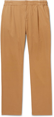 Remi Relief Pleated Cotton and Tencel-Blend Twill Chinos - Men - Neutrals