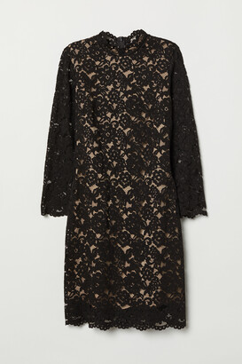 H&M Long-sleeved lace dress