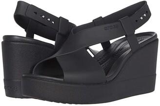 Crocs Brooklyn High Wedge (Black/Black) Women's Wedge Shoes
