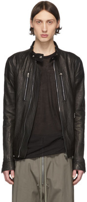 Rick Owens Black Leather IES Jacket