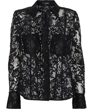 Intermix Maya Lace Button Down Shirt
