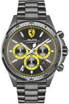 Ferrari Men's Chronograph Pilota Gray Ion-Plated Stainless Steel Bracelet Watch 45mm 0830391