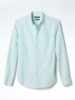Banana Republic Grant-Fit Stripe Cotton Stretch Oxford Shirt