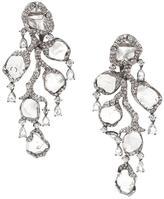 Saqqara 18kt white gold and diamond 'Flow' earrings