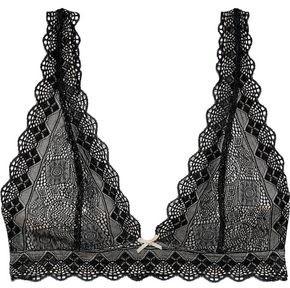 Heidi Klum Intimates Stretch-lace Triangle Bra