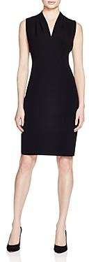 T Tahari Tonya Pleat-Shoulder Dress