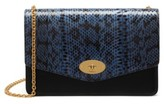 Mulberry Medium Darley Convertible Genuine Snakeskin Clutch - Blue