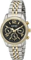 August Steiner Women's AS8103RG Swiss Quartz Multifunction Rose-tone Stainless Steel Bracelet Watch