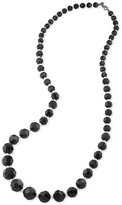 Carolee Hematite-Tone Imitation Pearl and Bead Necklace