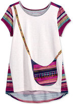 Jessica Simpson High-Low Purse T-Shirt, Big Girls (7-16)