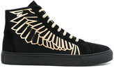 Marcelo Burlon County of Milan wing lace-up sneakers - men - Leather/rubber - 39