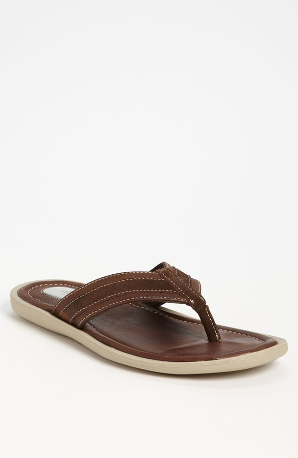 Kenneth Cole New York 'Beach Pass' Flip Flop (Men) Brown 12 M