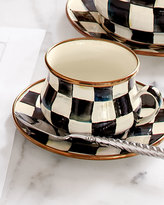 Mackenzie Childs MacKenzie-Childs Courtly Check 10-oz. Enamel Teacup
