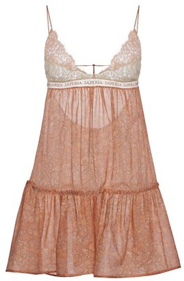 La Perla Silk Slip Dress with Leavers lace