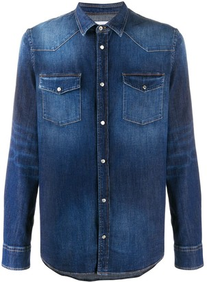 Dondup Acid Wash Denim Shirt