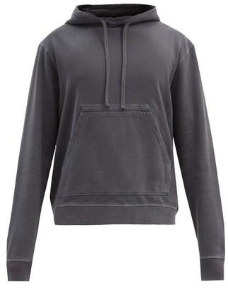 Officine Generale Oliver Garment-dyed Cotton Hooded Sweatshirt - Black