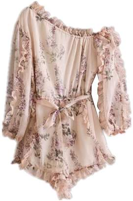 Goodnight Macaroon 'Cynthia' Floral Ruffled Romper