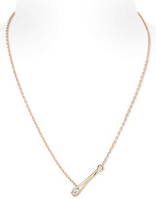 Repossi Serti Inverse 18K Rose Gold & Diamond Pendant Necklace