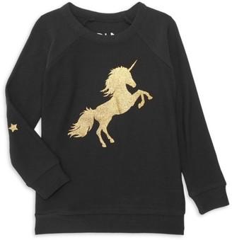 Chaser Little Girl's Unicorn Pullover