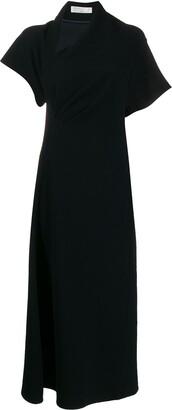 Victoria Beckham asymmetric neck midi dress