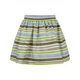 Il Gufo Il GufoGirls Green & Blue Striped Skirt