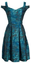 Maggy London Women's Cold Shoulder Brocade Dress