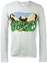 Comme des Garcons mountain intarsia jumper