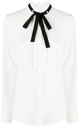 Liu Jo Silk Ruffle-Trim Shirt