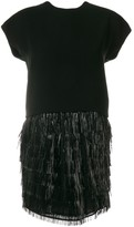Balenciaga Pre Owned fringed cocktail dress