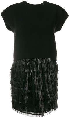 Balenciaga Pre-Owned Fringed Cocktail Dress