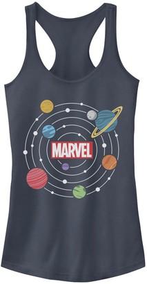 Licensed Character Juniors' Marvel Solar System Logo Graphic Tank