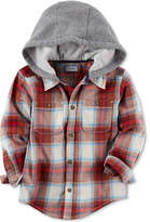 Carter's Plaid Flannel Hooded Shirt, Toddler Boys (2T-5T)