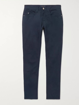 Loro Piana Slim-Fit Stretch-Cotton Trousers - Men - Blue