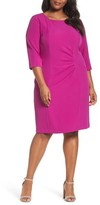 Tahari Plus Size Women's Ruched Sheath Dress