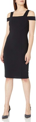 Tiana B T I A N A B. Women's Cold Shoulder Solid Crepe Sheath Dress