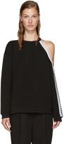 Christopher Kane Black Cut-Out & Loop Sweatshirt