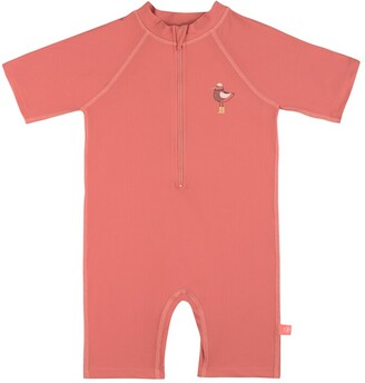 Lassig Short Sleeve Sunsuit - Mrs. Seagull Coral 24m