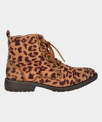 Billabong Women's Casual boots CET_CHEETAH - Brown Leopard Willow Way Hiking Boot - Women