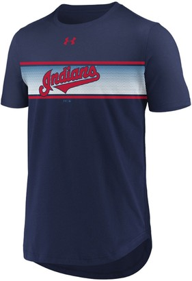Under Armour Men's Navy Cleveland Indians Seam To Seam Core T-Shirt