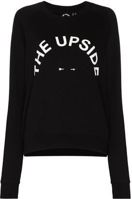 The Upside Logo-Print Crew-Neck Sweatshirt