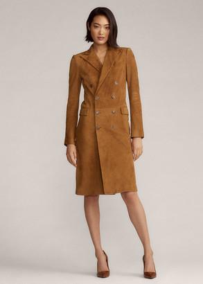 Ralph Lauren Wellesly Lamb-Suede Dress