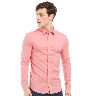 Jack Wills Mens Hinton Stretch Skinny Fit Long Sleeve Shirt Pink