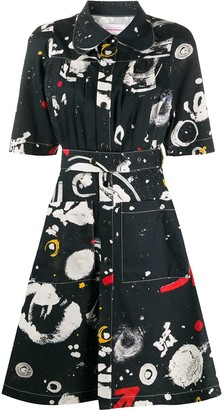 Charles Jeffrey Loverboy Asteroids Print Shirt Dress